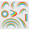 Realistic rainbows in different shape vector image