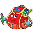 red school bag vector image vector image
