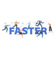 run faster leadership concept colleagues vector image vector image