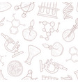 science seamless pattern scientific researches vector image vector image