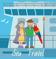 sea travel banner couple of vector image vector image