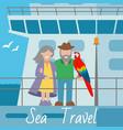 sea travel banner couple vector image