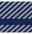 Seamless Marine Knitted Pattern vector image vector image