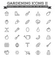 set garden and farm elements and fruits or vector image