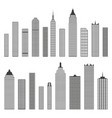 set of flat building icons isolated on white vector image vector image
