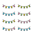 Set of hand drawn party flags vector image vector image