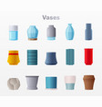 set vases cartoon vector image