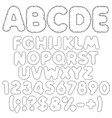 shaggy alphabet letters numbers and signs vector image vector image
