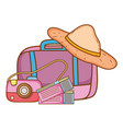 travel elements and item vector image vector image