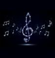 treble clef musical notes polygonal vector image