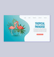 tropical paradise web banner or template vector image