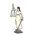 typical justitia clipart graphic vector image vector image
