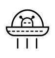 ufo outline icon vector image vector image