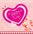 valentine greeting hearts banner and card vector image vector image