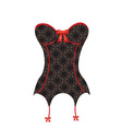 vintage corset with bows vector image