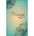 Vintage lace card vector image