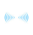 wifi sound signal connection in two dirrections vector image vector image