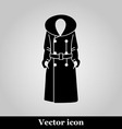 Women coat icon on grey background vector image vector image