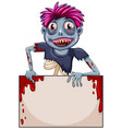 zombie blank frame concept vector image