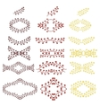 Floral frames collection vector image