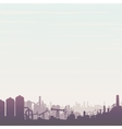 Oil and Gas Industry Panoramic Landscape vector image