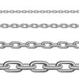 Steel Chains Horizontal Realistic Set vector image