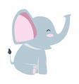 cute little elephant icon vector image