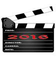2016 clapper board vector image vector image