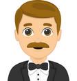 a stylish man cartoon vector image vector image