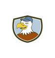 American Bald Eagle Head Smiling Shield Cartoon vector image vector image