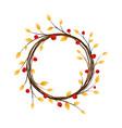 autumn wreath on white background vector image