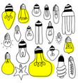 big set light bulbs vector image