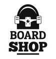 board shop logo simple style vector image