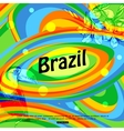 Brazil background for travel brochure banner vector image