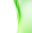 Bright green abstract swoosh wave border line vector image vector image