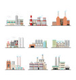 buildings of industry plants and factory vector image