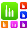 bullets set collection vector image vector image