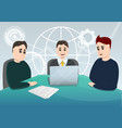 business planning meeting concept background vector image vector image