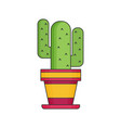 cactus flat icon vector image vector image