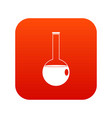 chemical beaker icon digital red vector image vector image