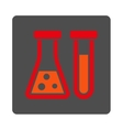 Chemistry Rounded Square Button vector image vector image