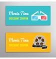 Cinema movie discount coupon vector image