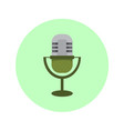classic microphone icon graphic vector image vector image