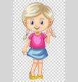 cute girl waving hand vector image vector image