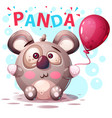 cute panda characters - cartoon vector image