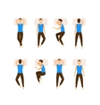 Different Sleeping Poses Set vector image vector image
