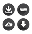 download now signs upload from cloud icon vector image vector image