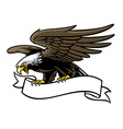 eagle grip a ribbon vector image vector image