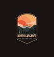 emblem patch logo north cascades national park vector image vector image