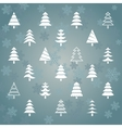 Fir trees1 vector image vector image